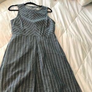 J.Crew denim strip dress
